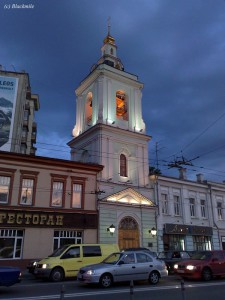 колокольня церкви Усекновения Главы Иоанна Предтечи в Казенной слободе