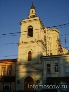 Колокольня при бывшей церкви Усекновения Главы Иоанна Предтечи в Казенной слободе