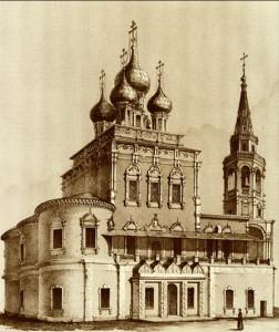 Храм Воскресения Христова в Кадашах, нач. ХІХ в. Источник: kadashi.ru