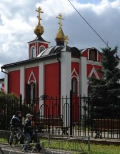 Храм Александра Невского при военной части в Куркине